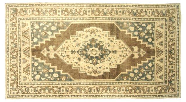 """Anatolian Oushak Rug, 6'4"""" x 11'6"""""""