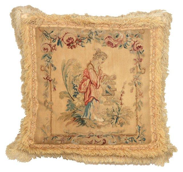 Pillow w/ Antique Aubusson