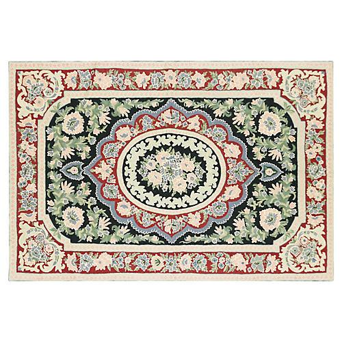 Chain-Stiched Carpet, 6' x 4'