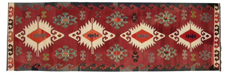 "Anatolian Turkish Kilim, 8'7"" x 2'10"""