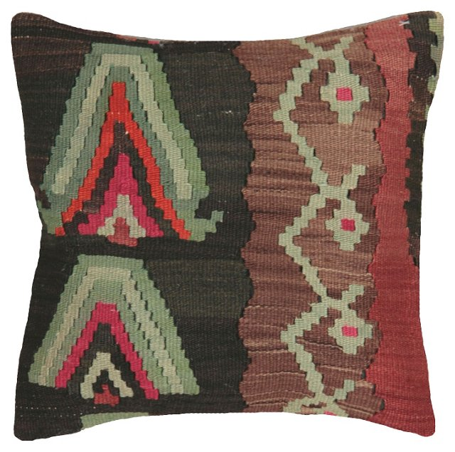 Kilim Pillow w/ Green