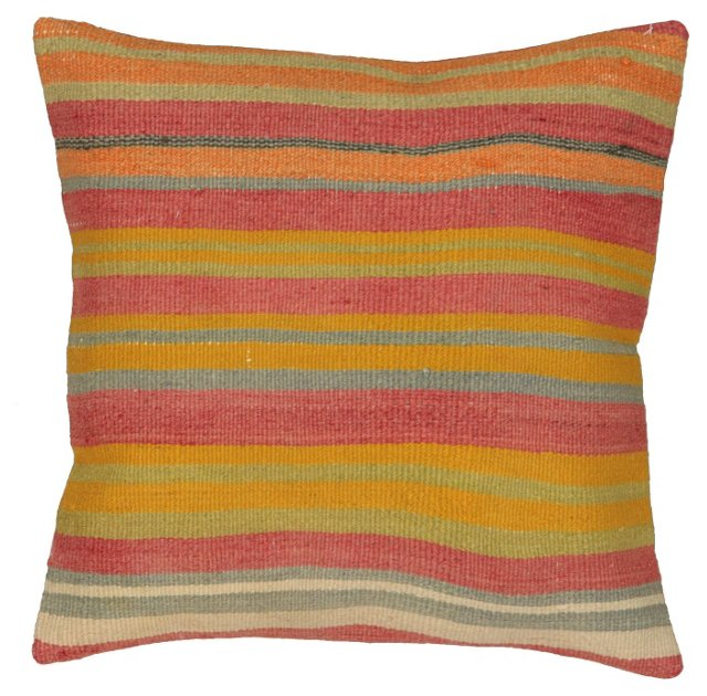 Striped Sunset Kilim Pillow