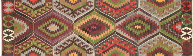 "Anatolian Turkish Kilim, 9'9"" x 2'10"""