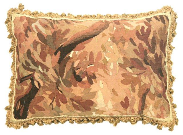 Pillow w/ Antique    Victorian  Aubusson