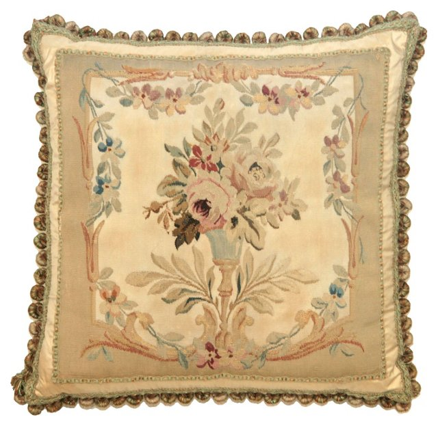 Pillow w/ Victorian   Aubusson
