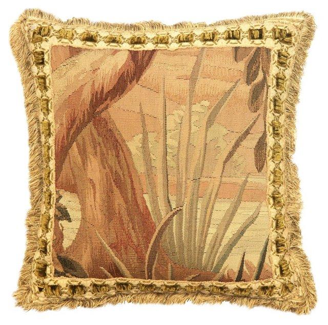 Antique Landscape Aubusson Pillow