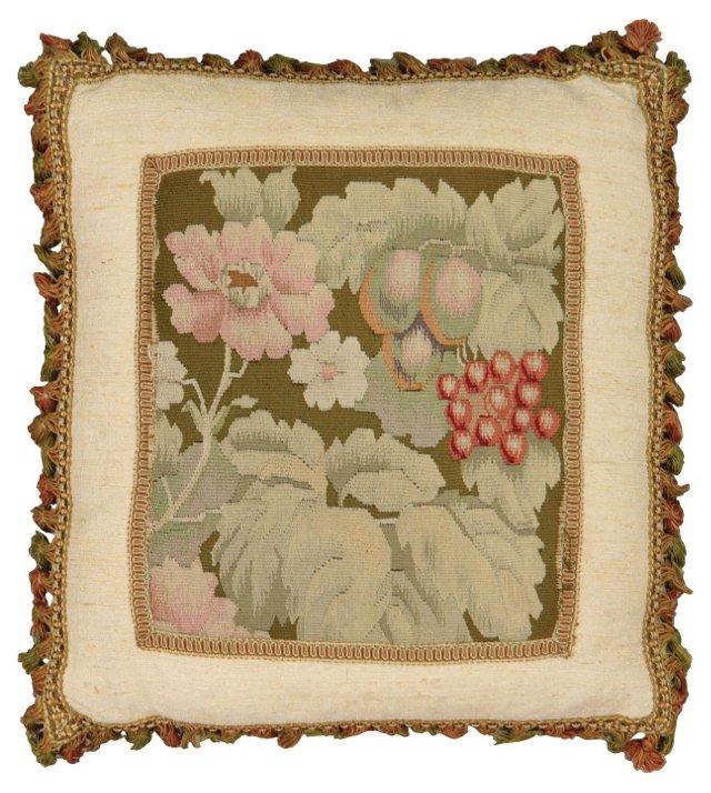 Pillow w/  Antique Floral  Aubusson