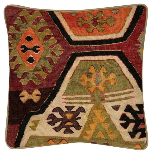 Pillow w/ Turkish        Kilim