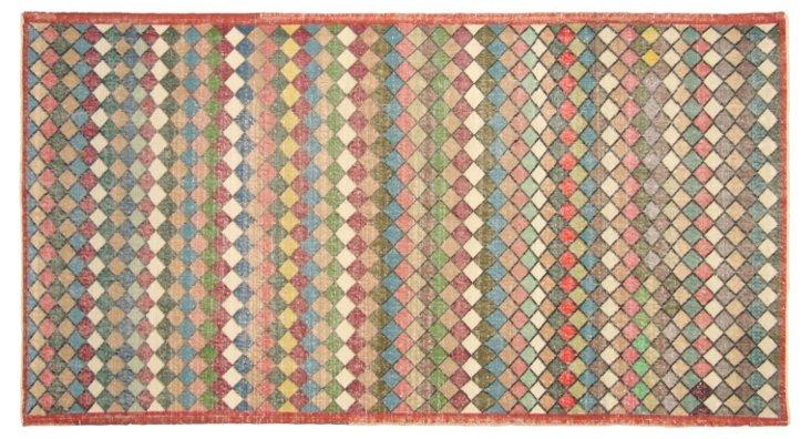 """Art Deco Turkish Rug, 4'  x 7'6"""""""