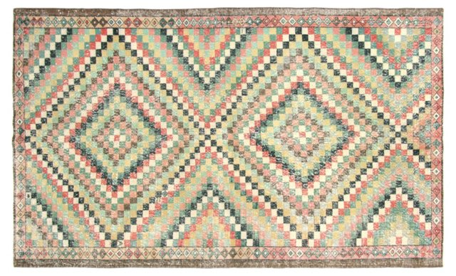 "Art Deco Turkish Rug, 5'8"" x  9'4"""
