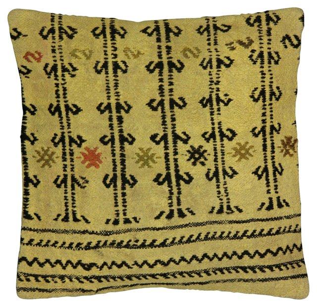 Overdyed Turkish   Rug Fragment Pillow