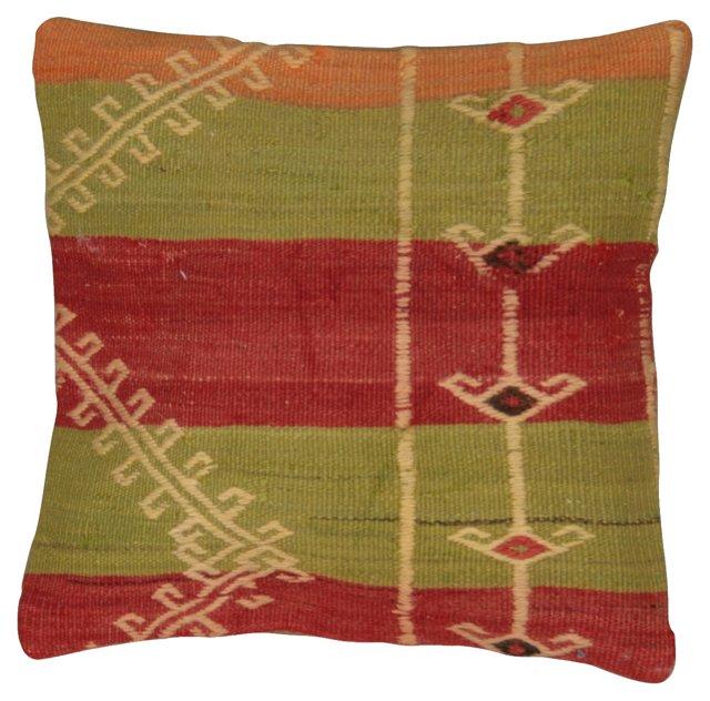 Zig Zag Turkish Kilim Fragment Pillow