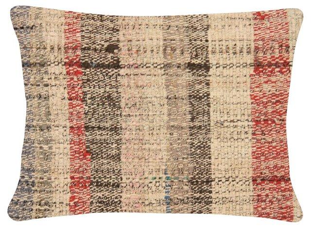 Muted   Turkish Rag Rug Pillow