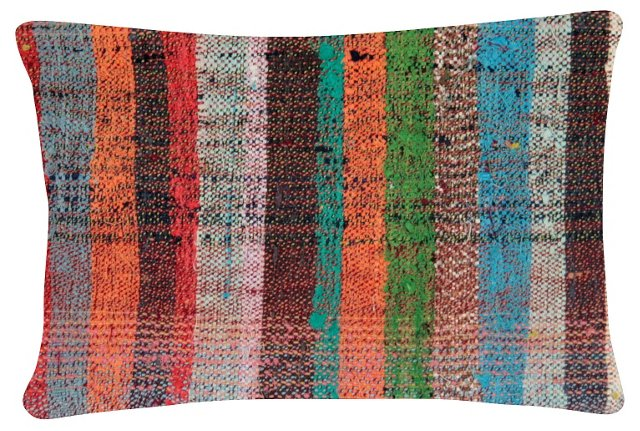Multicolor   Turkish Rag Rug   Pillow