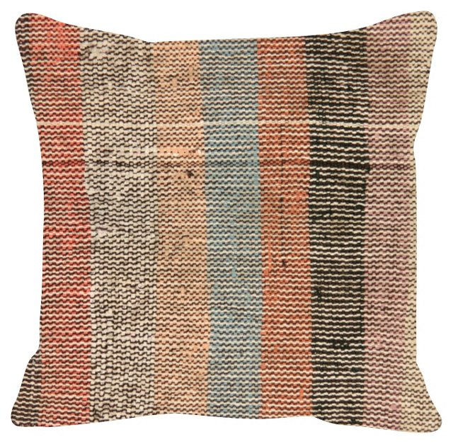 Muted    Rag    Rug Pillow