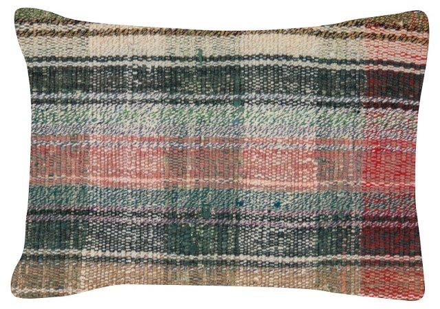 Multi-Stripe   Turkish Rag    Rug Pillow