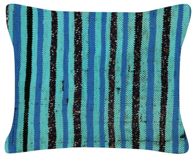 Turquoise   Turkish Rag    Rug Pillow