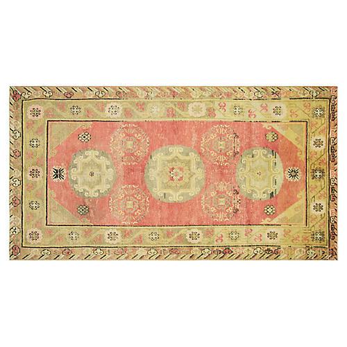 """1920s Samarkand Khotan Rug, 4'4"""" x 8'8"""""""