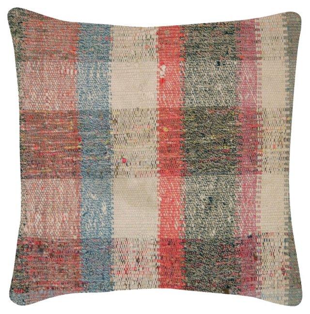 Multicolor Turkish Rag Rug    Pillow
