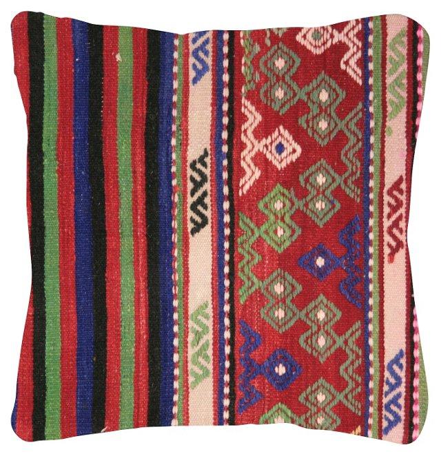Multicolor Stripe Turkish Kilim Pillow