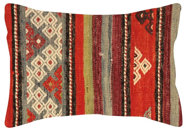 Multicolor Pattern    Kilim  Pillow
