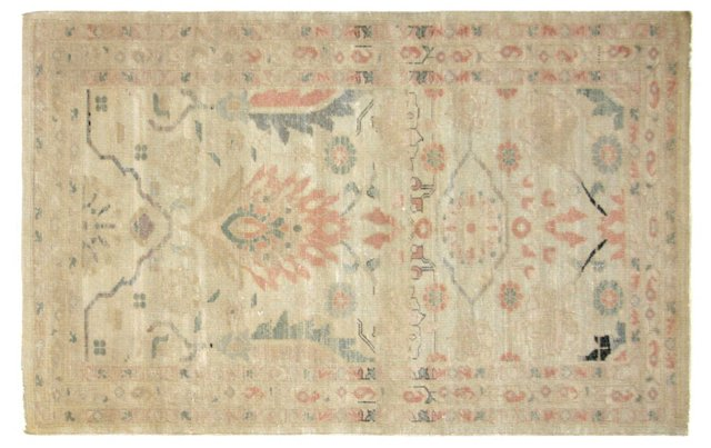 """Sultanabad-Style Rug, 3'2"""" x 5'2"""""""