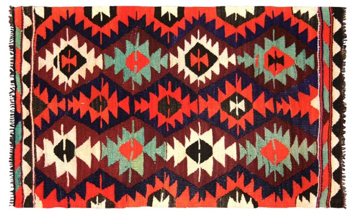 "Turkish Kilim, 2'3"" x 3'8"""
