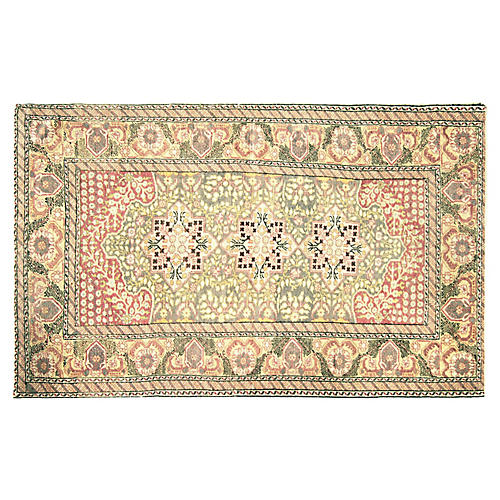 """Anatolian Oushak Rug, 4' x 8'6"""""""
