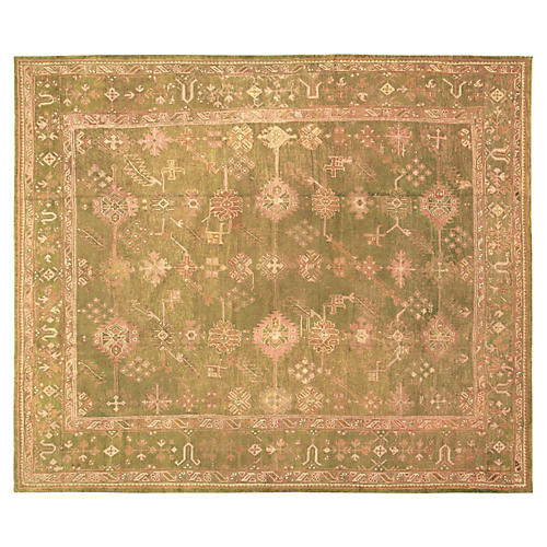 "Antique Oushak Carpet, 10'6"" x 12'2"""