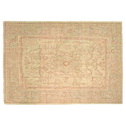 """Antique Oushak Carpet, 10' x 14'1"""""""