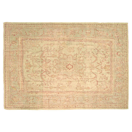 1950s Turkish Oushak Carpet, 10' x 14'2""