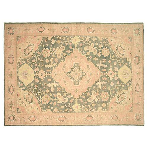 """Oushak Carpet, 9'3"""" x 12'6"""""""