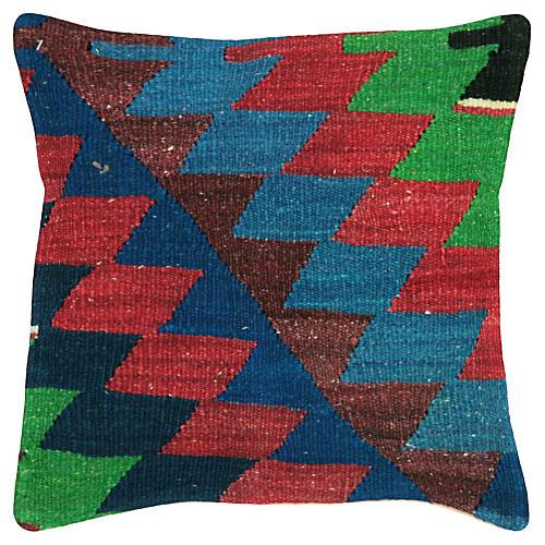 """Turkish Kilim Pillow, 15"""" x 15"""""""