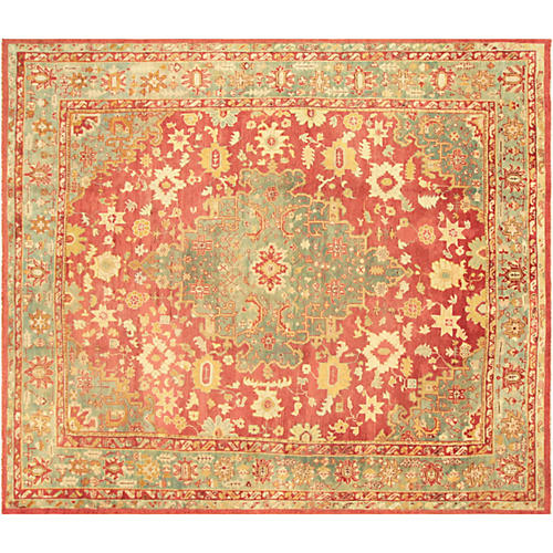 "Turkish Oushak Carpet, 13'10"" x 15'4"""