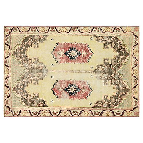 "Turkish Oushak Rug, 4'9"" x 7'2"""