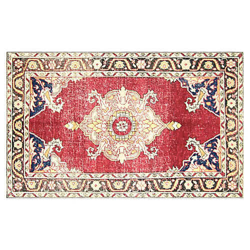 "1960s Turkish Oushak Rug, 4'8"" x 7'9"""