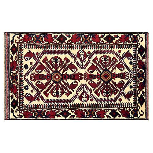 """1980s Afghan Baluch Rug, 3'5"""" x 5'9"""""""