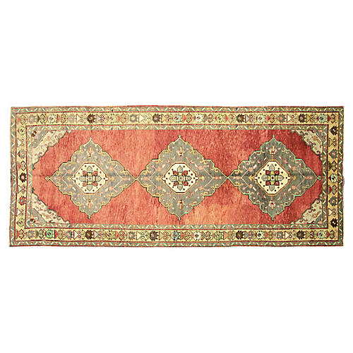 "1960s Turkish Oushak Rug, 4'9"" x 11'6"""
