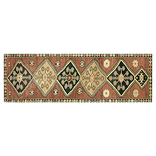 "1960s Turkish Oushak Runner, 3'7""x12'10"""