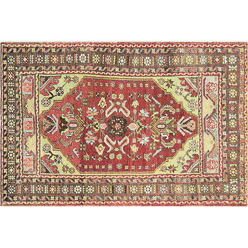 "1960s Turkish Oushak Rug, 3'2"" x 5'"