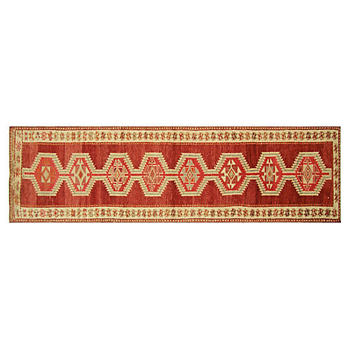 "1960s Turkish Oushak Runner, 2'9""x11'11"""