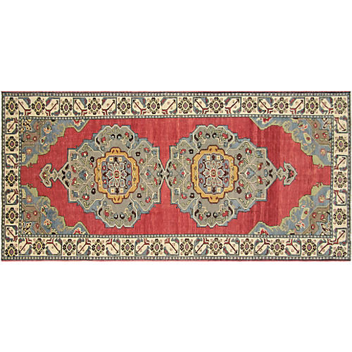 1960s Turkish Oushak Runner, 5' x 11'1""