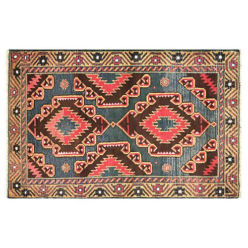 """Afghan Balouch Rug, 2'11"""" x 4'7"""""""