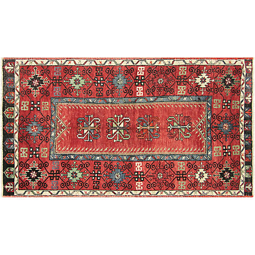 """Anatolian Oushak Rug, 3'10"""" X 7'"""