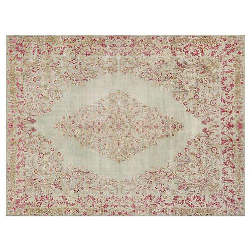 """Persian Kerman Carpet, 9'7"""" x 12'8"""""""