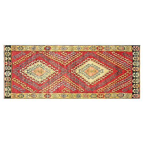 "1960s Turkish Oushak Runner, 3'7"" x 9'9"""