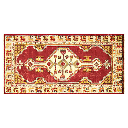 "1960s Turkish Oushak Rug, 2'6"" x 4'11"""