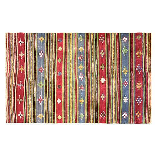 """Anatolian Kilim Rug, 5;8"""" x 9'3"""""""