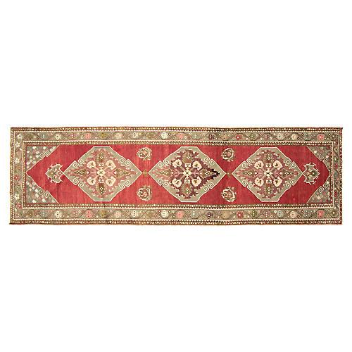 Turkish Oushak Carpet - 3'5'' x 11'7''
