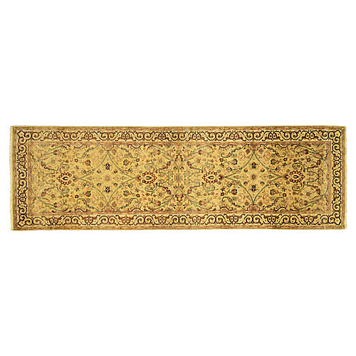 "Indian Tabriz Runner, 2'7"" x 8'2"""
